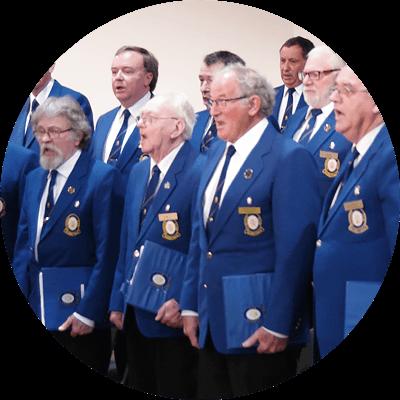 Singing male choir